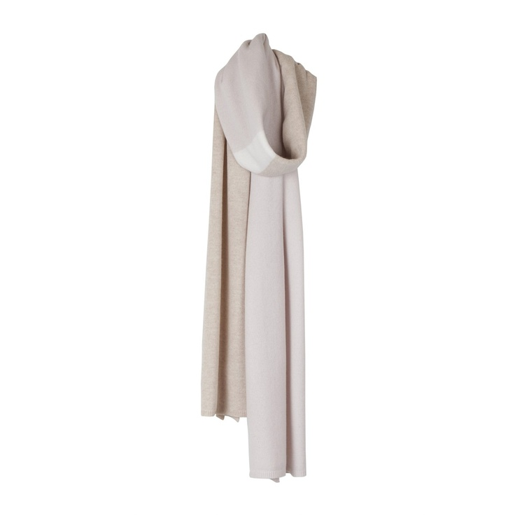 Arelalizza striped big cashmere scarf
