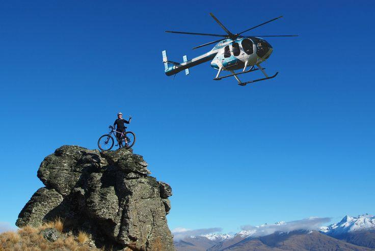 Heli-Biking with Heliview Flights.