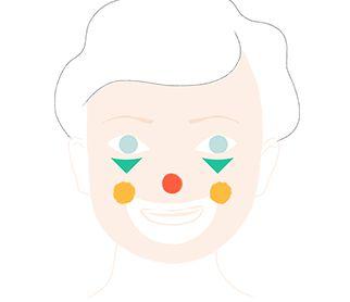 les 25 meilleures id es concernant maquillage de clown sur pinterest maquillage horreur. Black Bedroom Furniture Sets. Home Design Ideas