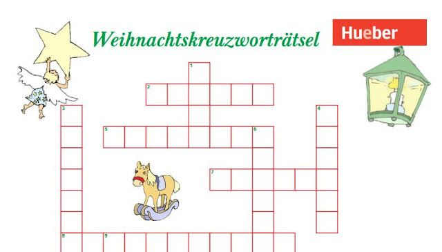 Eine kleine Deutschkiste: Weihnachtskreuzworträtsel - Hueber Verlag