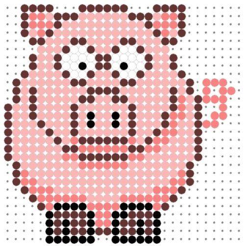 Pig Perler Bead Pattern