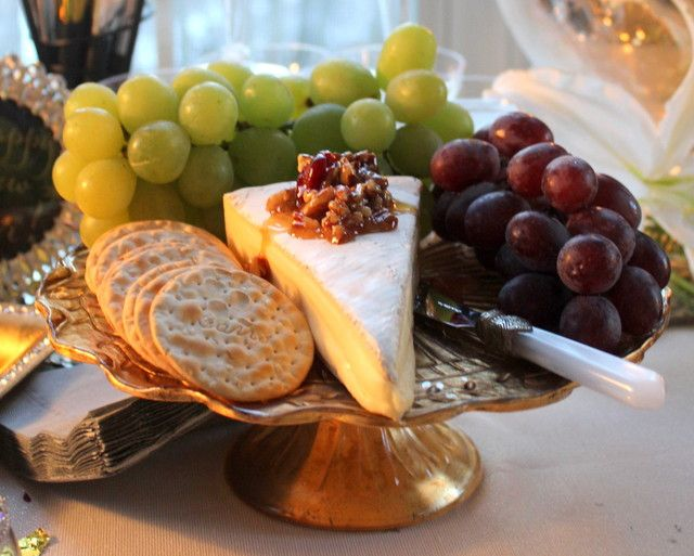 Delicious food at a New Year's Eve party!  See more party ideas at CatchMyParty.com!  #partyideas #newyears