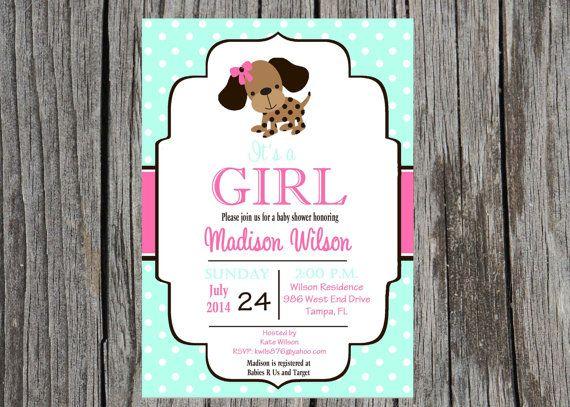 Puppy Baby Shower Invitation puppy invitation door PrintYourEvent