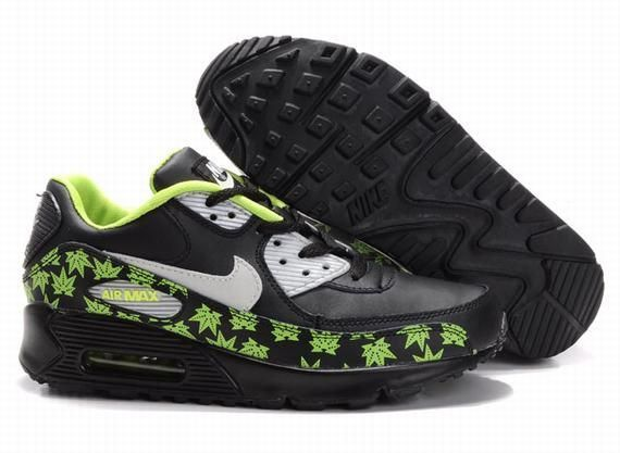 Only$70.96 #NIKE AIR MAX 90 BLACK LIGHT GREEN MAPLE LEAVES #Free #Shipping! http://feedproxy.google.com/fashionshoes1