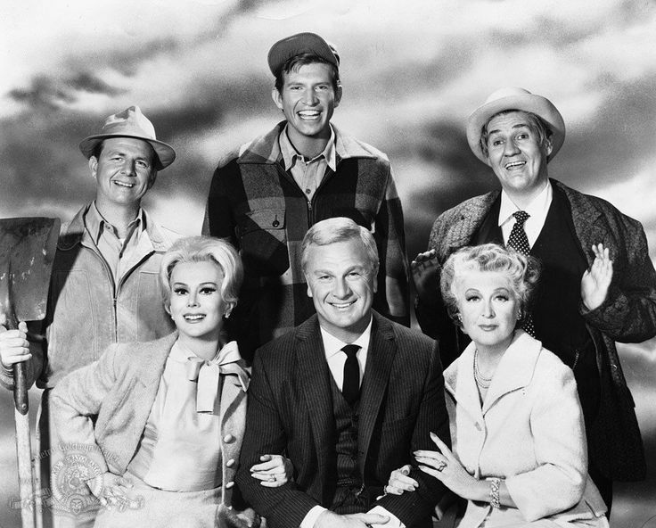 Still of Eddie Albert, Eva Gabor, Eleanor Audley, Pat Buttram, Tom Lester and Alvy Moore in Green Acres (1965)