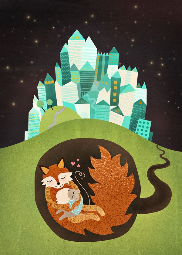 Michelle Carlslund The Fox & the Mouse Illustration