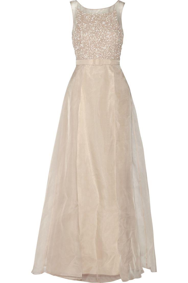 Nice BADGLEY MISCHKA Sequin embellished organza gown http theoutnet