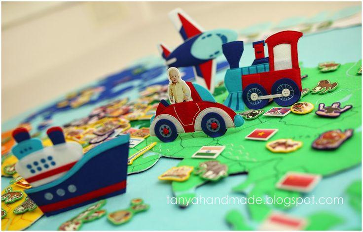 развивающая игра, my world, крутые игрушки, крутые игры, география для детей, детская география, карта мира, карта мира для детей, мелкая моторика, сенссорика, чем занять ребенка, Мария Мантессори,  Велкроткань, фетр, танины рукодельности, эксклюзивные игрушки, книжка развивайка, тихая книга, развивающая книжка, путешествия, приключения, дошкольное развитие, стильные игрушки, лучший подарок