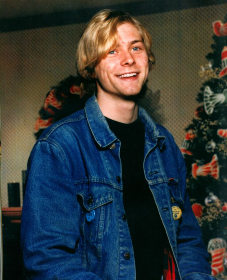 Kurt Cobain at Christmas 1986, Kurt was 19 years old. Photograph is from the MOH book.