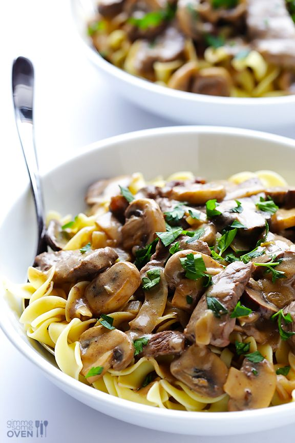 30-Minute Beef Stroganoff -- a quick and easy dinner that's full of amazing flavor! | gimmesomeoven.com #recipe #dinner