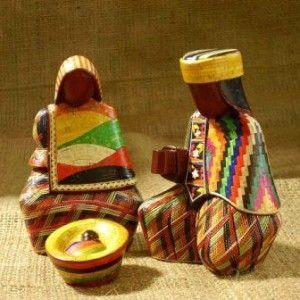 Nacimiento Típico elaborado en Tamo (técnica pre-colombina) de la región de Pasto, Colombia