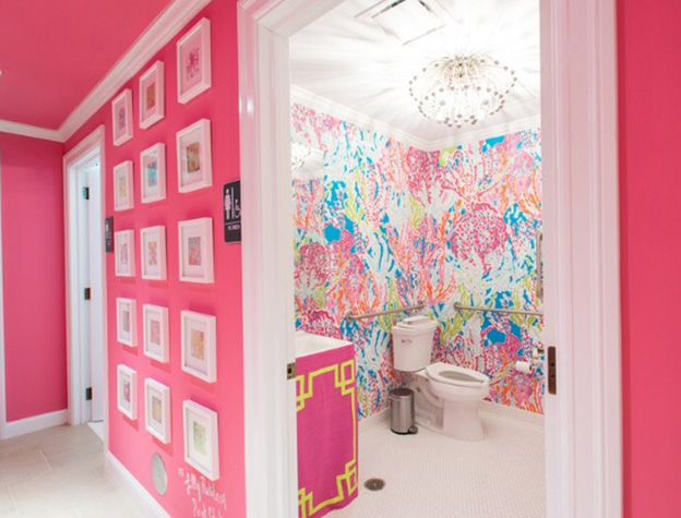 17 best images about lilly retail details on pinterest for Lilly pulitzer bathroom