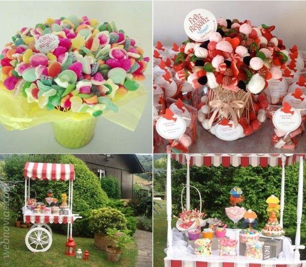 Mmm mesas de dulces para tu boda mesa de dulces - Ideas para decorar mesas de chuches ...