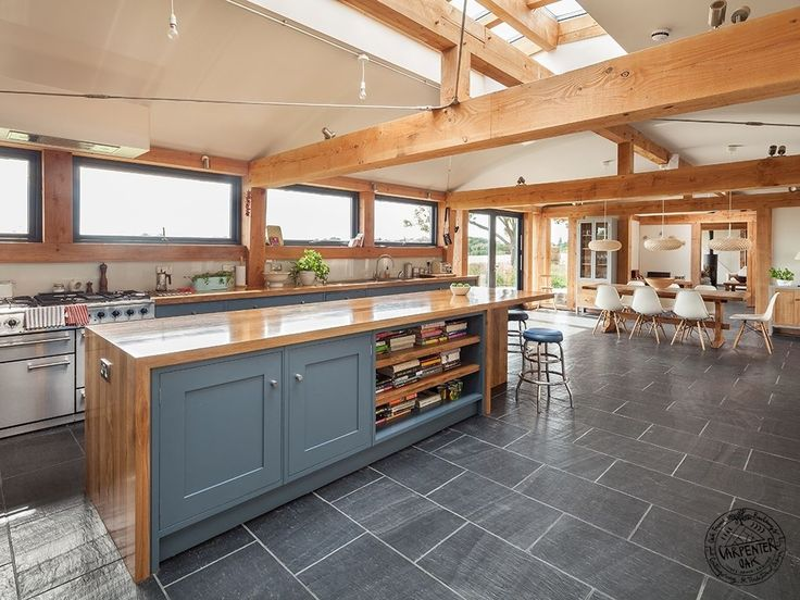A Light And Spacious Contemporary Timber Framed Open Plan Kitchen And  Dining Room By Carpenter Oak