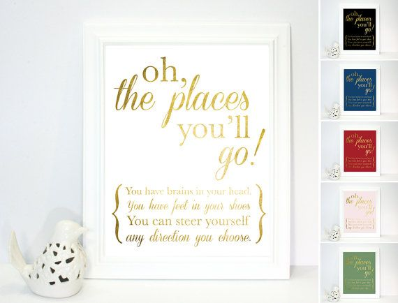 In Your Head Quotes: Printed Poster, Dr Seuss, Oh The Places You'll Go! Quote