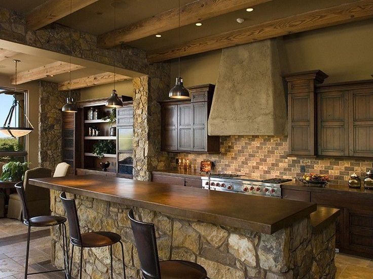17 best rustic kitchens images on pinterest home for Kitchen designs rustic