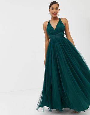 1397e06b4dfac ASOS DESIGN - Premium - Robe longue de bal de promo en tulle avec ...