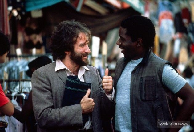 Moscow on the Hudson - Publicity still of Robin Williams & Cleavant Derricks