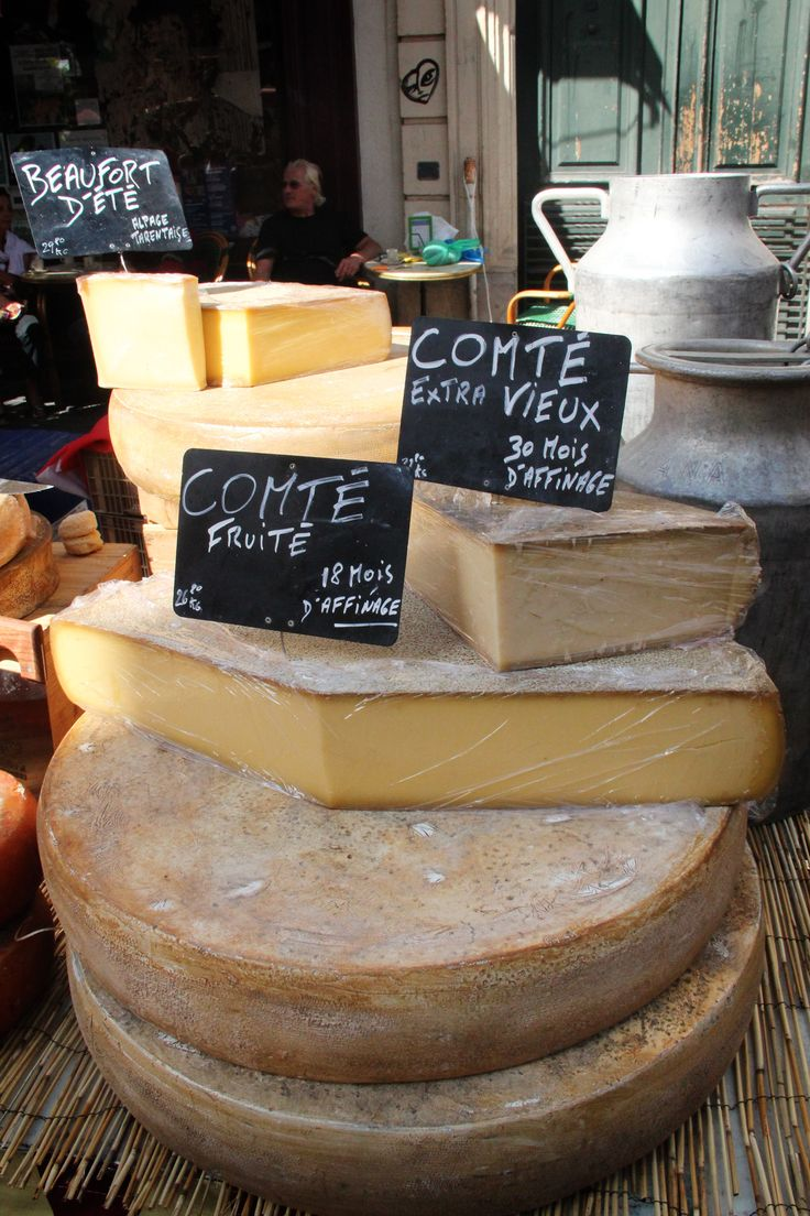 Cheese at the Sète market