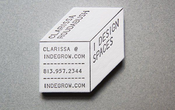 3-d perspective business card