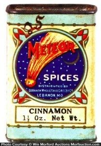 Sold for $577.50 Meteor Spice Tin
