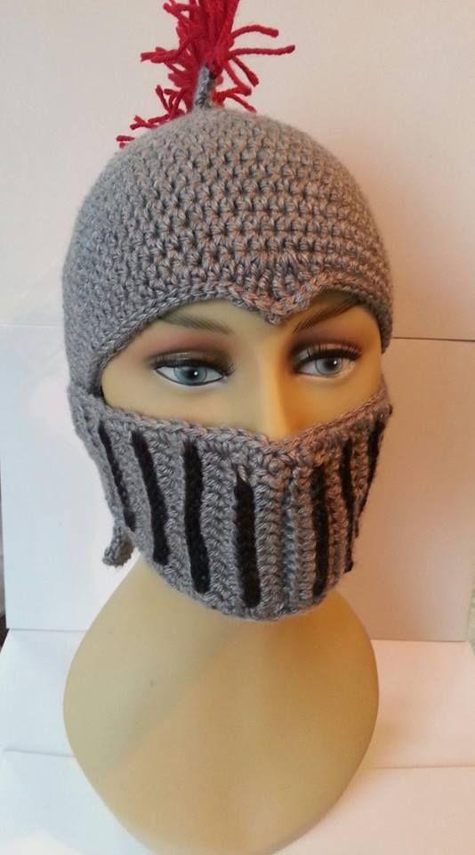 Crocheted Knights Helmet