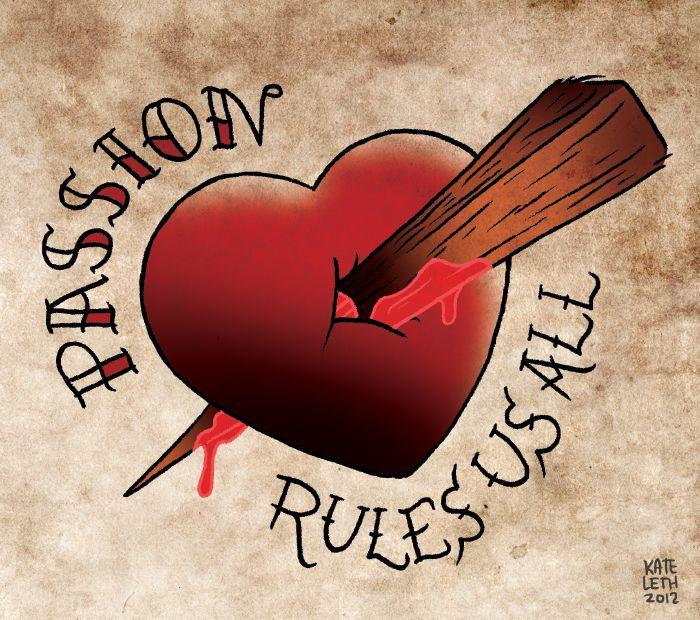 Buffy the vampire slayer tattoo design | stake # heart # vampire