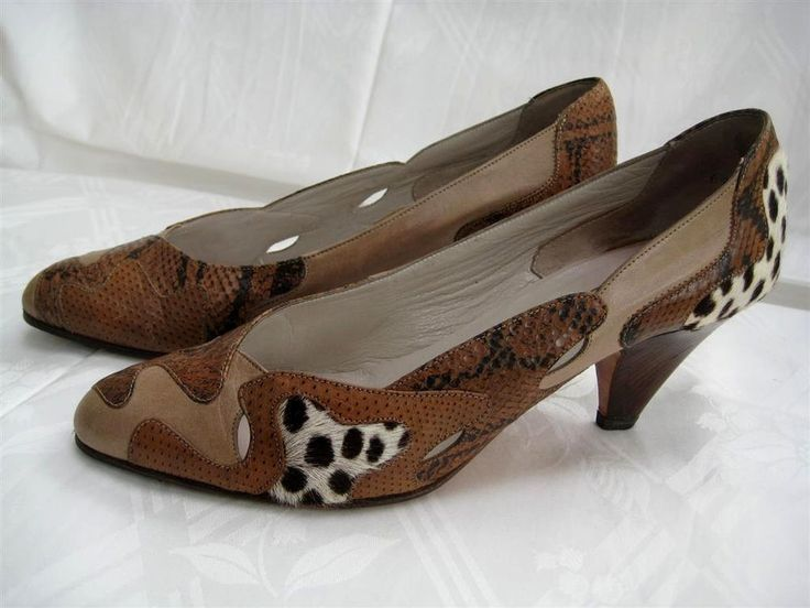 Ausgefallene Lederschuhe Pumps Schuhe Creation K+S Gr. 6 1/2 Damenschuhe m. Fell in Kleidung & Accessoires, Damenschuhe, Pumps | eBay
