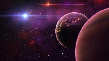 Space art, planets wallpaper