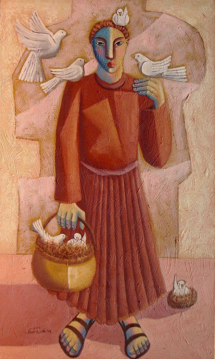 São Francisco Nando Ribeiro (Brasil, 1963) óleo sobre tela, 100 x 60 cm