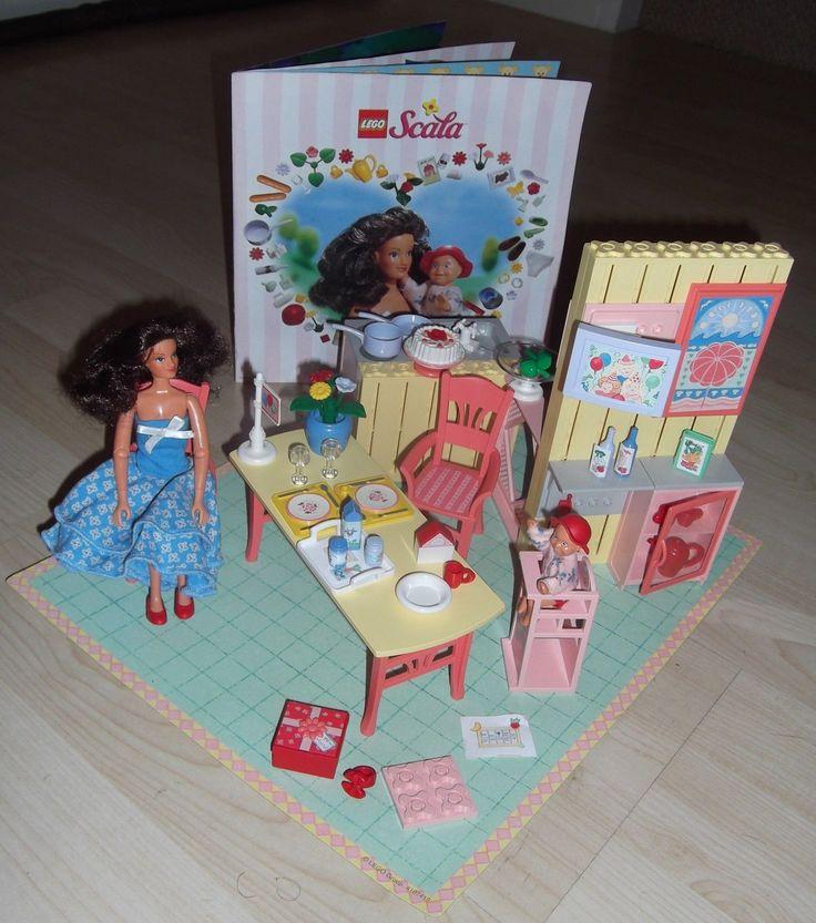 Lego Vintage Scala Girls Pink Dolls House Kitchen 3243 Set 1997 Rare   14.99+3.3