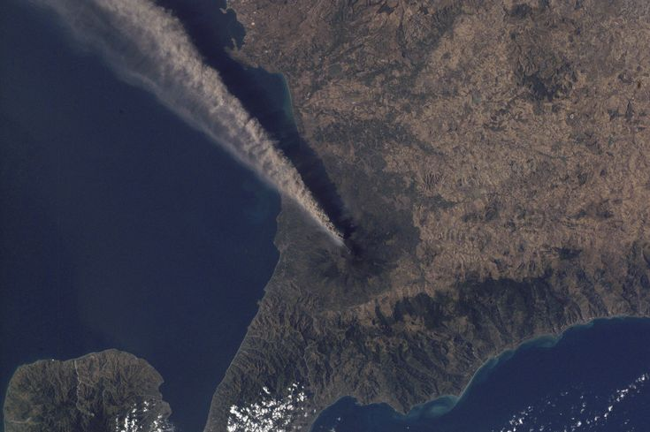"""Etna Volcano - Catania - Sicily  Spectacular View of Etna from the International Space Station. A really amazing photo of the eruption :D    Discover Mount Etna on Italia.it: http://goo.gl/vjNIz    Image Science and Analysis Laboratory, NASA-Johnson Space Center. """"The Gateway to Astronaut Photography of Earth."""" http://eol.jsc.nasa.gov/sseop/images/EO/highres/ISS002/ISS002-E-8683.JPG"""