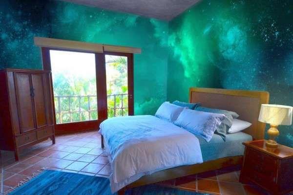 2015 Yatak Odası Yıldızlı Tavan Dekorasyonu Resim   2