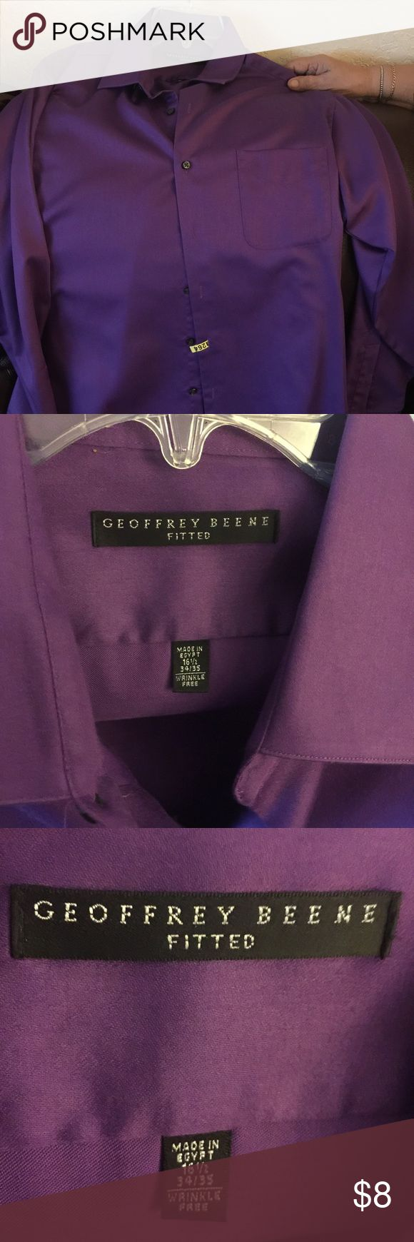 Men's top Used Geoffrey Beene Shirts Dress Shirts