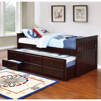 Coaster Furniture La Salle Twin Captains Bed with Trundle and Storage Drawers - 300106