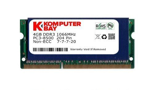 awesome Komputerbay - Módulo de memoria SO-DIMM (4GB, DDR3, 204 pines, 1066 Mhz, PC3 8500)