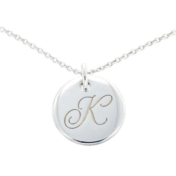 Pre-owned Tiffany & Co. 925 Sterling Silver Alphabet Letter K Necklace ($198) ❤ liked on Polyvore featuring jewelry, necklaces, sterling silver pendant necklace, initial pendant necklace, sterling silver letter pendant, sterling silver letter necklace and tiffany co necklace