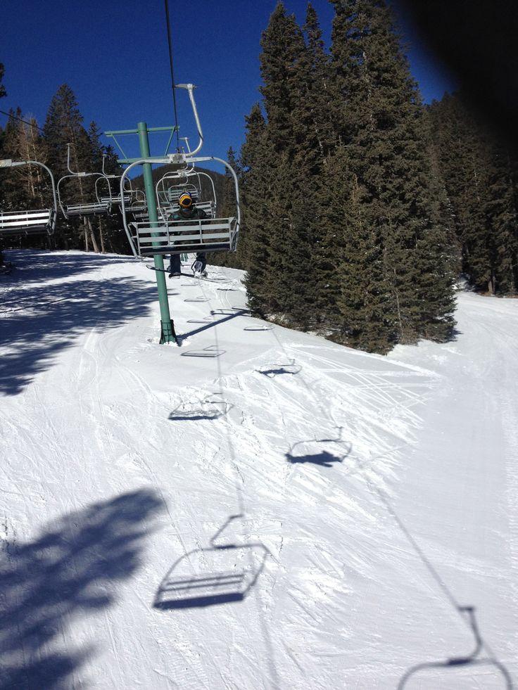 Snowboarding it Ruidoso, New Mexico