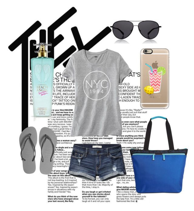 """Believe in Summer"" by thestrawberrytales on Polyvore featuring Old Navy, Abercrombie & Fitch, Havaianas, Calvin Klein, The Row, Casetify and Victoria's Secret"