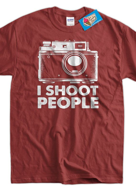 Photography Camera T-Shirt I Shoot People film Camera Tshirt Photographers Tee Shirt Mens Womens Ladies Youth Kids Geek Funny
