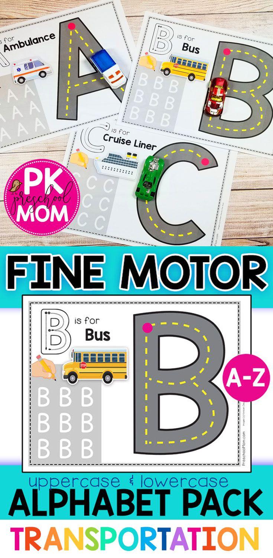 Fine Motor Alphabet Pack Drive Write Roads Transportation Preschool Transportation Theme Preschool Letter Recognition Activities [ 1500 x 735 Pixel ]