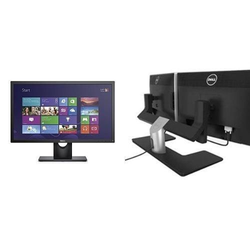 """Two Dell E2316Hr 23"""" Monitors Bundle with One Dell MDS14 Dual Monitor Stand"""