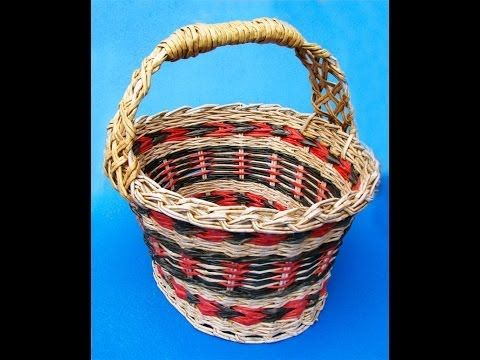 How to weave a holder for an Easter basket. Part 7. - YouTube