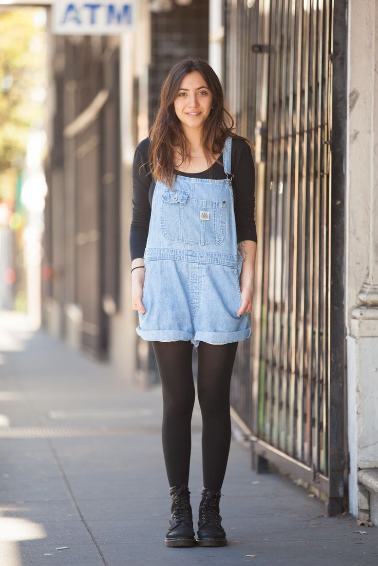 24 Too-Cool Tomboys In S.F. #refinery29 http://www.refinery29.com/63669#slide9 Name: Alex Lilienfeld Gig: Works at The Chapel Hood: Tenderloin What She's Wearing: Dr. Marten boots, American Apparel top and tights, thrifted overalls, and rings found in Berkeley.