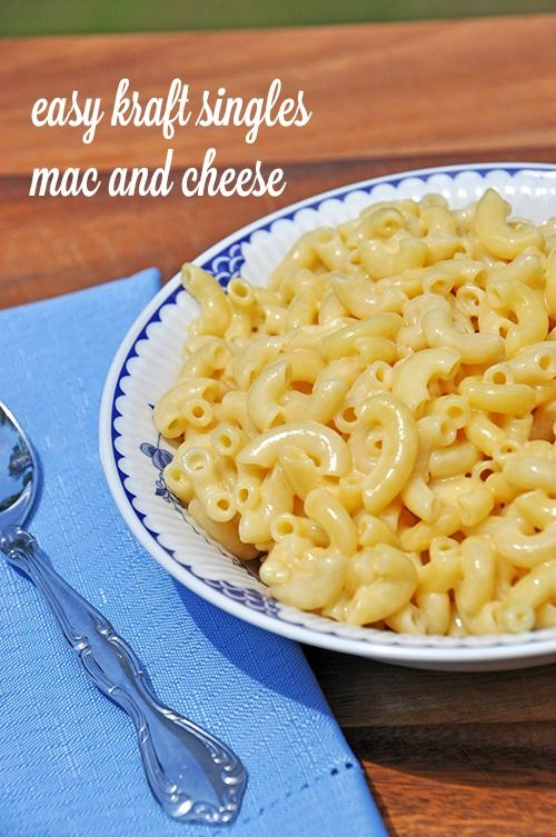 Kraft Singles Mac and Cheese- super easy recipe made from individually ...