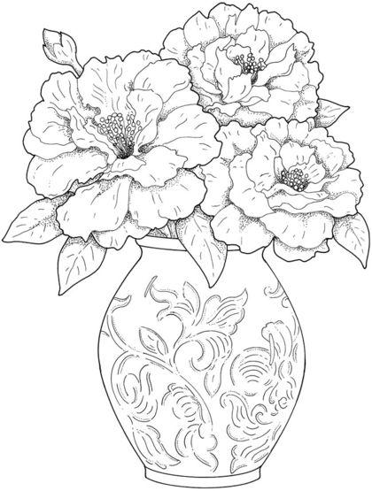 컬러링 도안 컬러링북 어른 색칠공부 어려운 색칠공부 꽃 부케 이제 좀 있으면 입춘이다