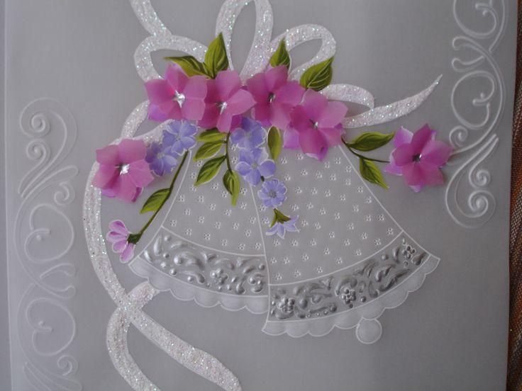 detalle de las flores  superpuestas