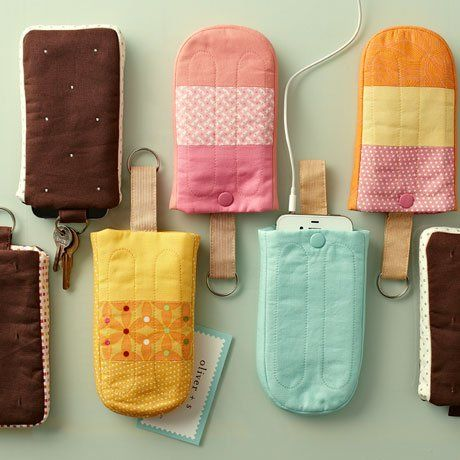 Cute but it would make me want ice cream more than I already to... DIY Smartphone Cases Look Like Little POPsicles!