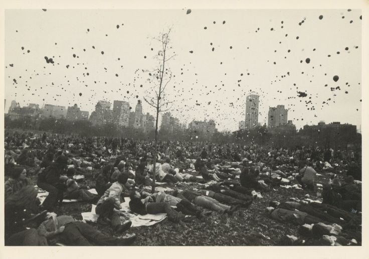 Peace Demonstration, Central Park, New York City, 1970. Photograph by Garry Winogrand
