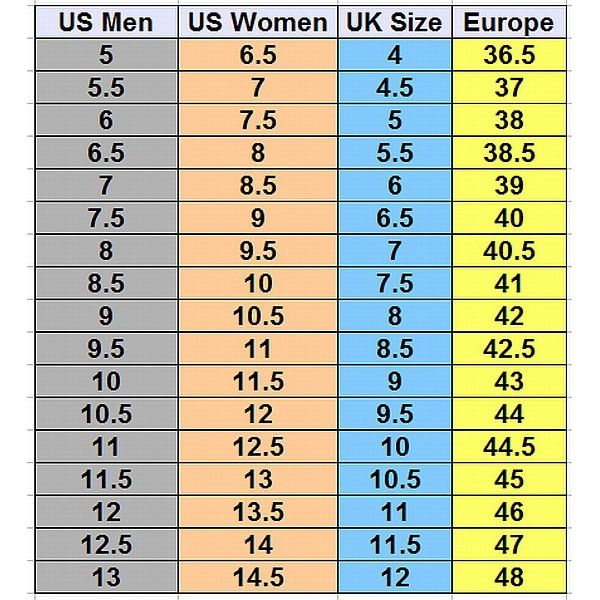 Mens To Womens Shoe Size Conversion Chart Us In 2020 Shoe Size Chart Shoe Size Conversion Size 10 Women Shoes